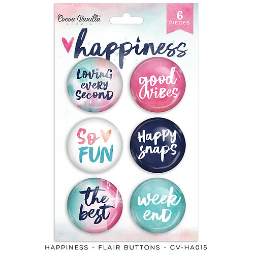 Cocoa Vanilla - Happiness - Flair Buttons