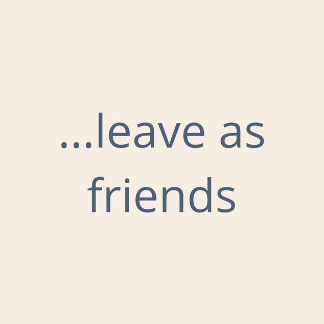 LaValla enter as strangers, leave as friends