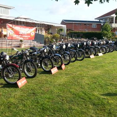 Motorbikes on LaValla lawn