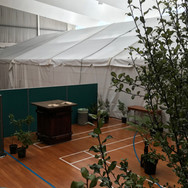 Marquee in Gymnasium