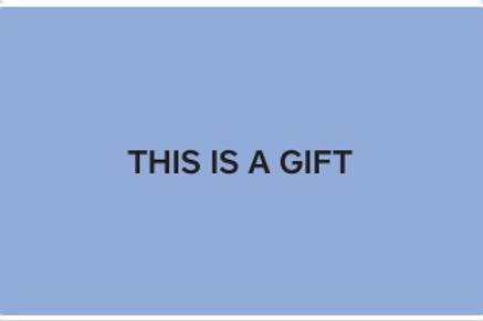 E-Gift Card - Carte cadeau électronique