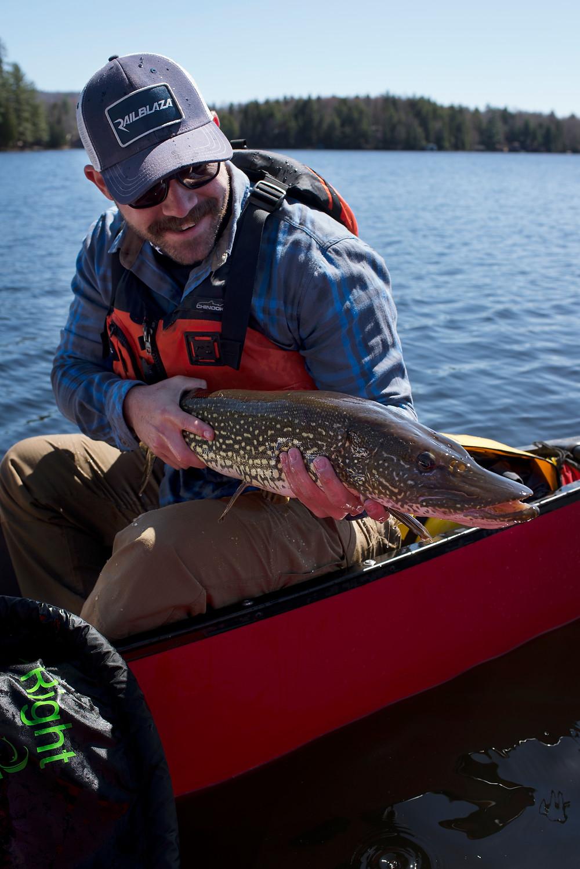 Mark Vlaskamp holds a big Northern Pike caught in the Adirondacks.