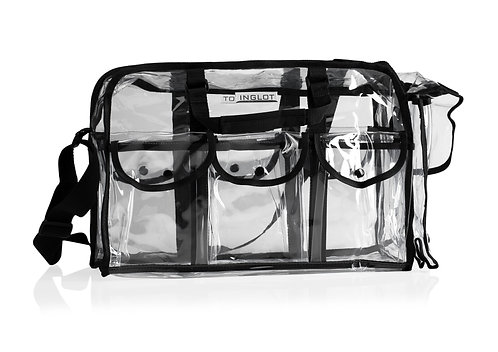 ESTUCHE PARA MAQUILLAJE - INGLOT TRANSPARENT MAKE UP BAG WITH POCKETS