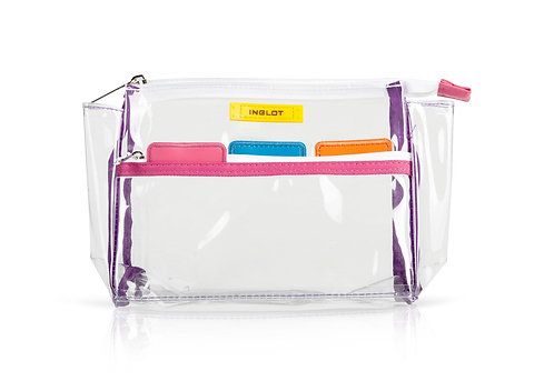 ESTUCHE PARA MAQUILLAJE - INGLOT TRANSPARENT COSMETIC BAG COLOUR