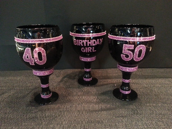Goblet Cup - 40, 50, or Happy Birthday