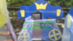 Детский игровой домик в виде кареты.