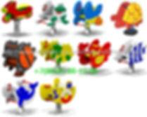 Детские Качалки на 1 или 2 пружинах в виде:Мотоцикла,Лягушонка,Пчелки,Черепахи,Божьей Коровки,Петушка,Рыбки,Дельфина,Кораблика
