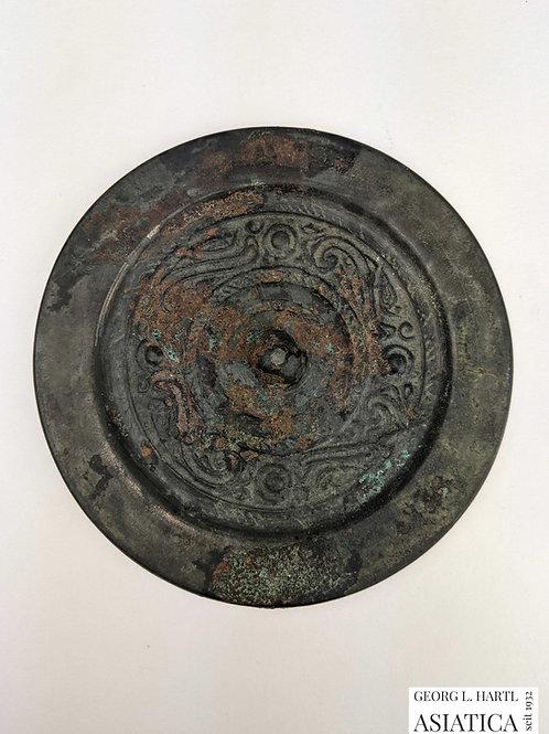 Verzierter bronzener Spiegel, Han Dynastie, China