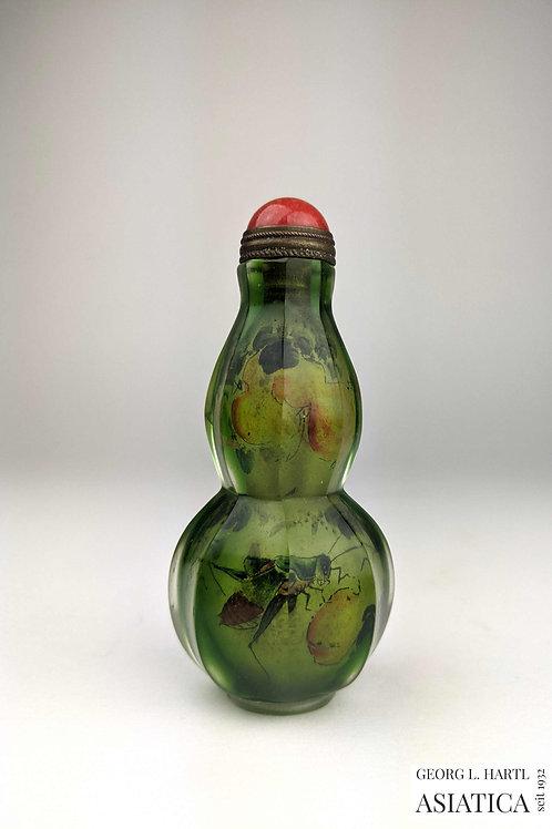 Seltene 'Innenmalerei' Glas 'Snuffbottle', 19. Jh., China