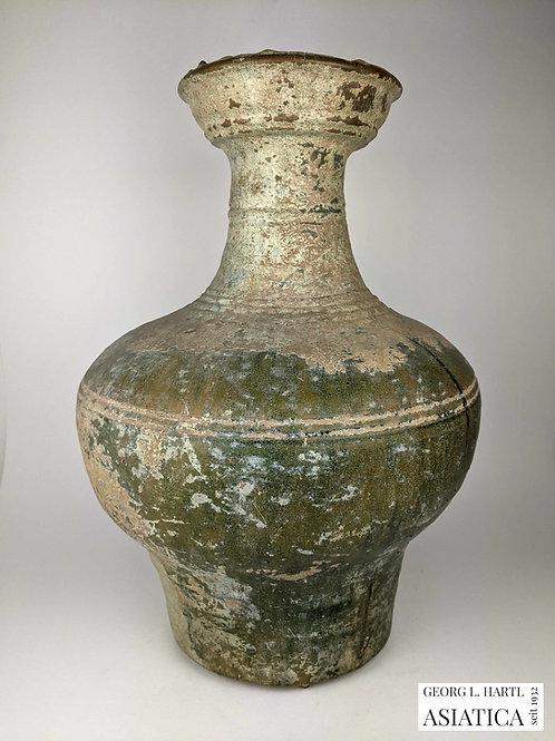 Bleiglasierte Vase, Han, China