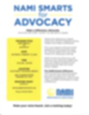 NAMI SMARTS for ADVOCACY TRAINING   FEBR