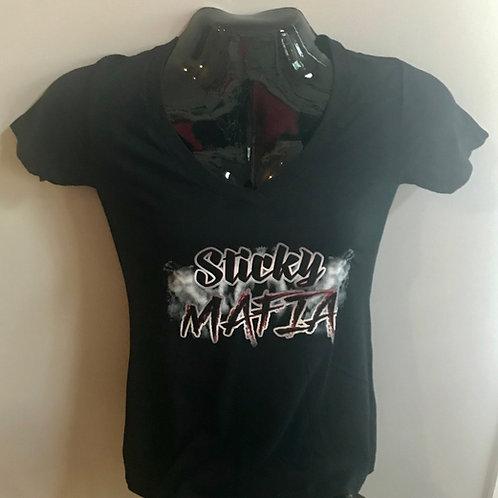 Sticky Mafia Female Black T-shirt