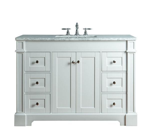 """Seine 48"""" White Single Sink Vanity"""