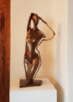 Figure with Outline - Bronze Sculpture