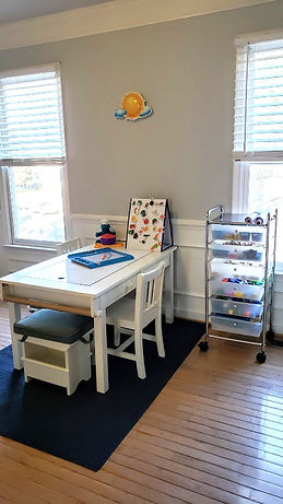 kids art room storage