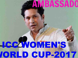 Tendulkar appointed UNICEF ambassador for ICC Women's World Cup