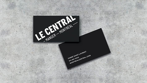 Le Central Montreal Branding