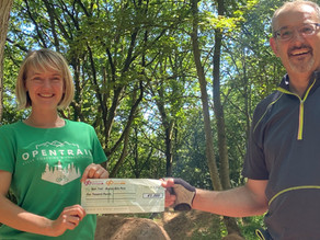 gbpartnerships provide a push start for cycling charity, Open Trail