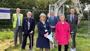 Ground breaking ceremony for the new health and wellbeing centre for Dartmouth