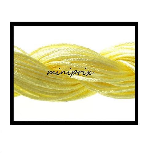 X5 Mètres de fil nylon/macramé jaune 1mm.