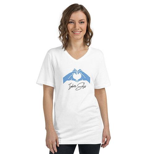 Heart Hands Unisex Short Sleeve V-Neck T-Shirt