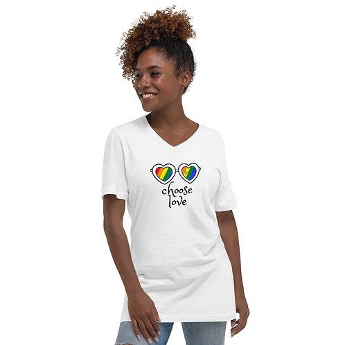 Choose Love Unisex Short Sleeve V-Neck T-Shirt