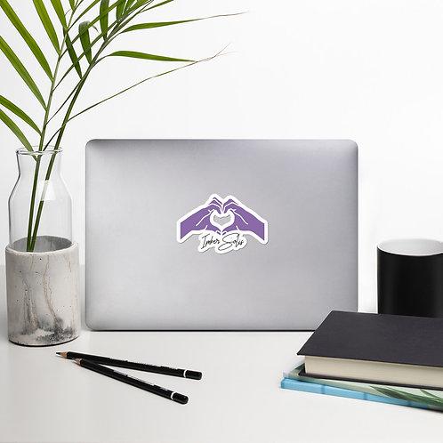 Heart Hands Light Purple Bubble-free Stickers