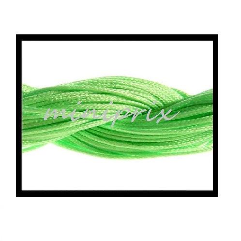 X5 Mètres de fil nylon/macramé vert 1mm.