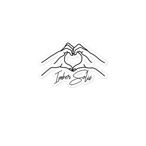Heart Hands White Bubble-free Stickers