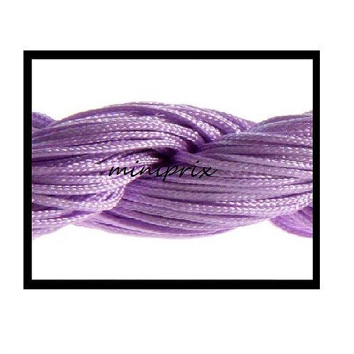 X5 Mètres de fil nylon/macramé violet 1mm.