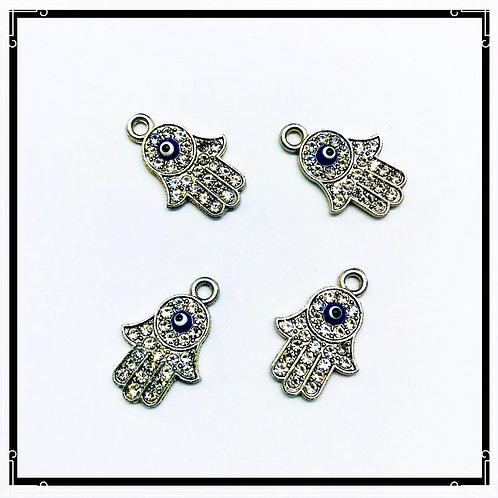 4pcs pendentifs main de fatma / fatima / œil