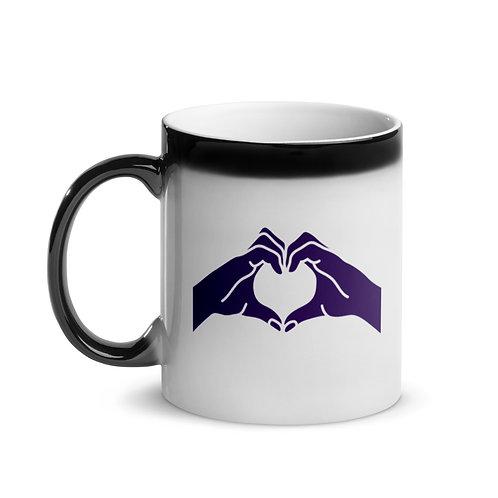Heart Hands Glossy Magic Mug