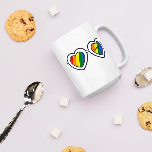 Choose Love White Glossy Mug