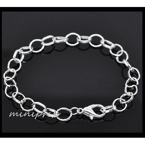 X1 bracelet / chaînette en métal argenté