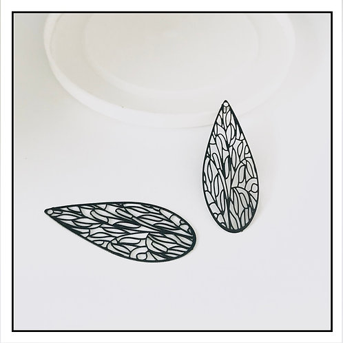 2pcs estampes pendentifs filigrane