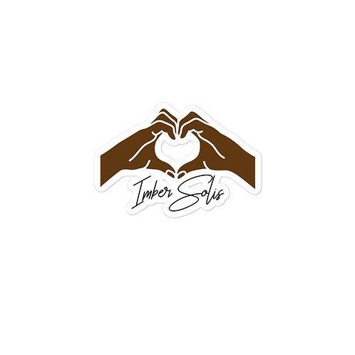 Heart Hands Brown Bubble-free Stickers