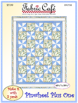 Pinwheel Plus One Quilt Pattern by Fabric Café