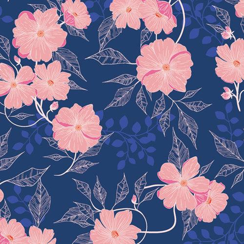 Midnight Garden from Flowerette by Art Gallery Fabrics