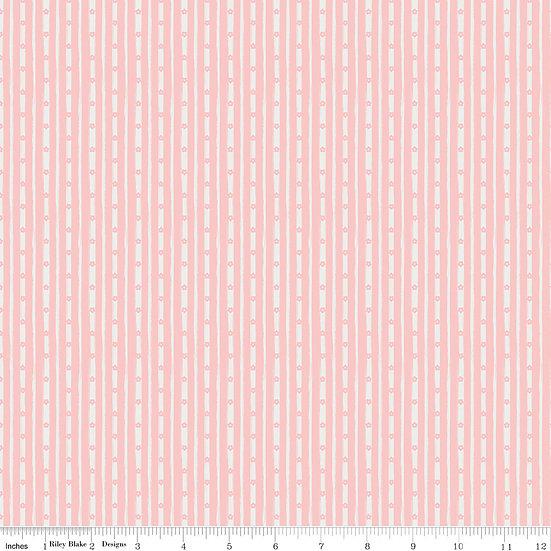 Abbie's Garden Stripe Pink
