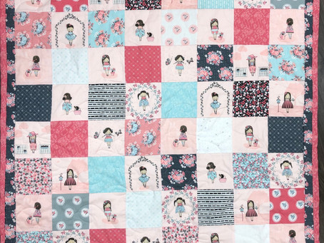 Baby Quilt with Abbie's Garden Fabric Collection