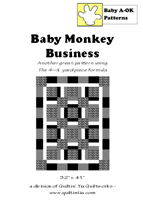 Baby Monkey Business Quilt Pattern
