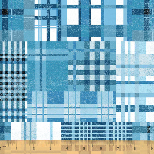 Across the USA by Whistler Studios - Blue Country Plaid
