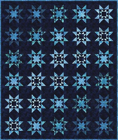 Royal Stars Quilt Kit - Azula - Artisan Batiks