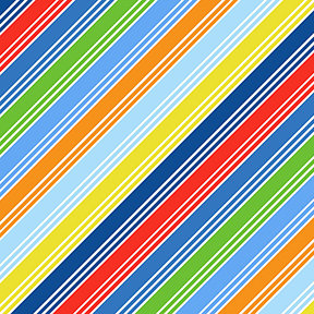 Things That Go - Stripe in Multi Color