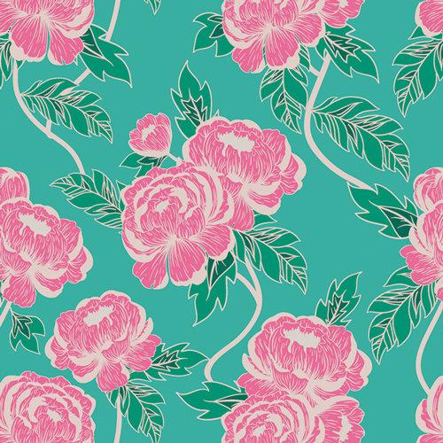 Flourishing Peonies from Flowerette by Art Gallery Fabrics