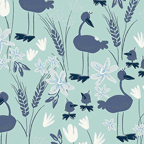 Blue Goose Geese - Teal - meags & me