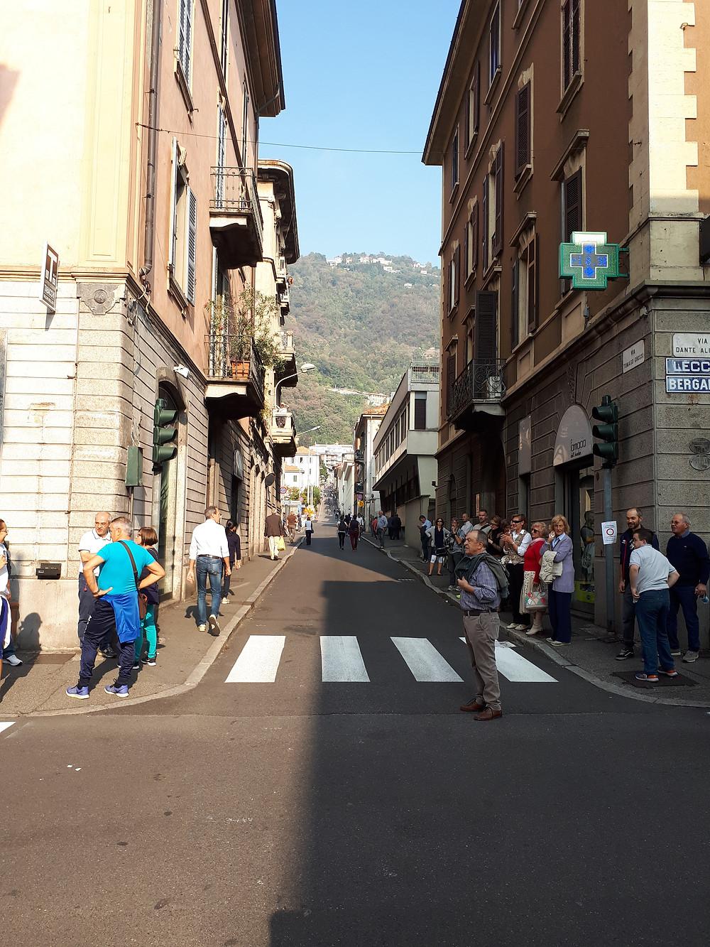 Начало подъема в Civiglio