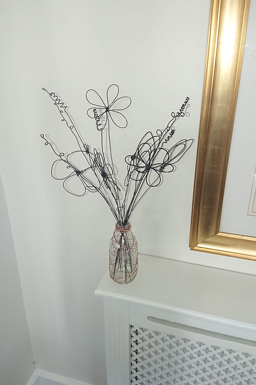 Wire sculpture - Spring Flowers
