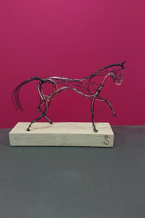 Black Stallion wire sculpture