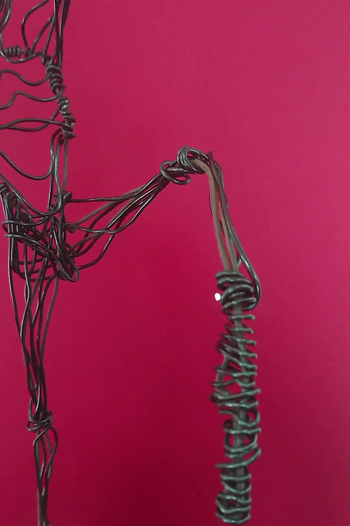 Wire sculpture - 'Joyous Dancer'